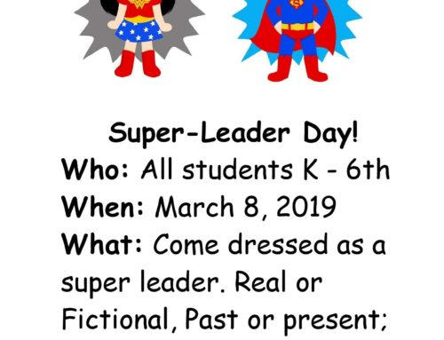 OPA Elementary Spirit Day: March 8th