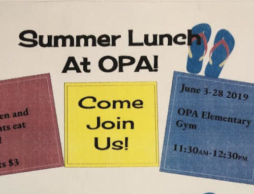 Summer Lunch at OPA