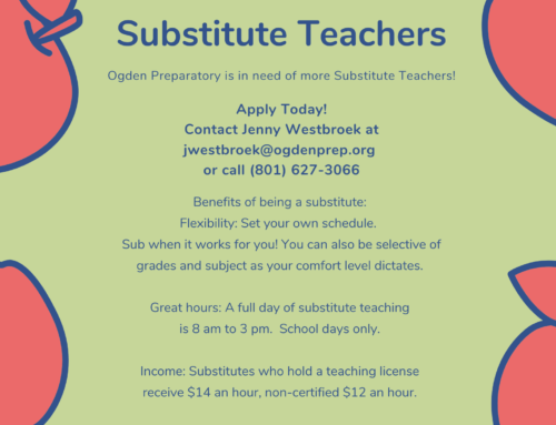 OPA Substitute Teachers Needed