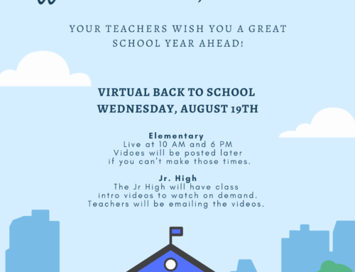 Virtual Back to School: August 19th