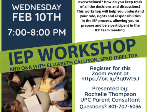 IEP Workshop: Feb. 10th